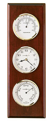 Howard Miller Weather Station Wall Clock Thermometer, Barometer 625-249