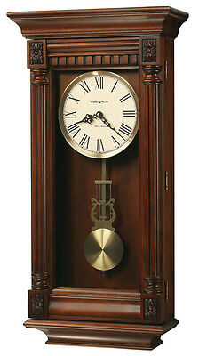 Howard Miller Traditional,Cherry Finish,Triple Chime Wall Clock 625-474
