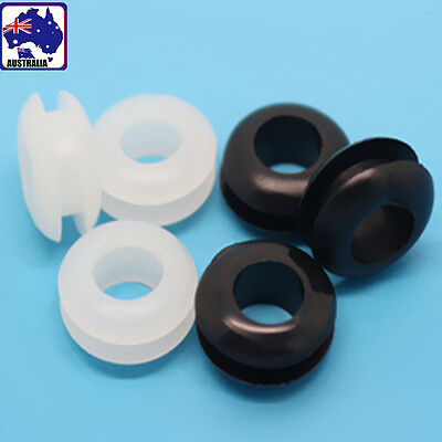 100x Rubber Wiring Grommets Ring 5mm Cable Protector Gasket Electrical TEBOO 88