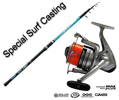 KP1822 Kit Surfcasting Canna Leader Surf 200 gr + Mulinello Oceanic 8000 FEU