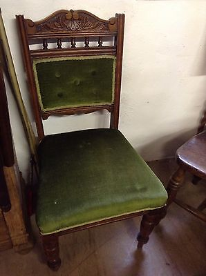 Green Upholstered Hall Chair