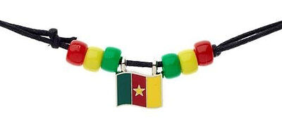 Cameroon Country Flag Small Metal Necklace Choker .. New