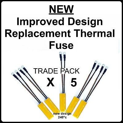 5 X New Thermal Fuses For Ghd Hair Straighteners For Repairs/ Replacement