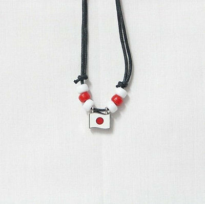 Japan  Country Flag Small Metal Necklace Choker .. New