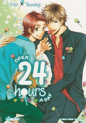 OPEN 24 HOURS A DAY Mio Tennohji Ya Oi ONE SHOT Boy's love yaoi manga français