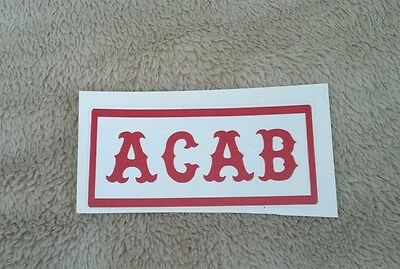 "HELLS ANGELS SUPPORT STICKERS ""ACAB"" 1x3"