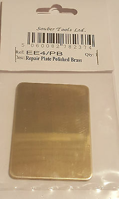 Standard door Repair hole Cover Plates Polished brass  Finger Push Plate new XX