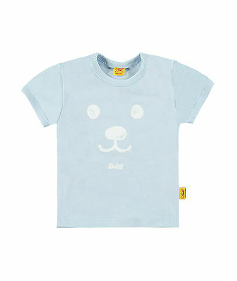 STEIFF Newborn Little Star shirt Bärchengesicht hellblau Gr.56 - 86 NEU