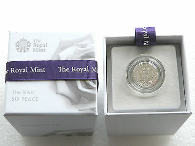 First Time In 70 Years - 2016 Queen Elizabeth II 6D Sixpence Silver Coin Box Coa