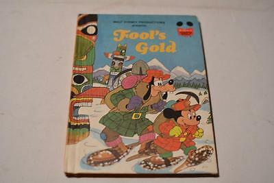 Walt Disney Productions FOOL'S GOLD Mickey Mouse Childrend Book