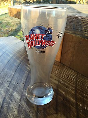 Planet Hollywood Souvenir Beer Glass From Cozumel