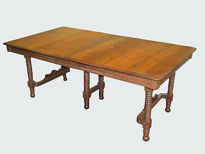 19Th Century Eastlake Victorian Oak Dining Table Expertly Restored-Ultra Sweet!