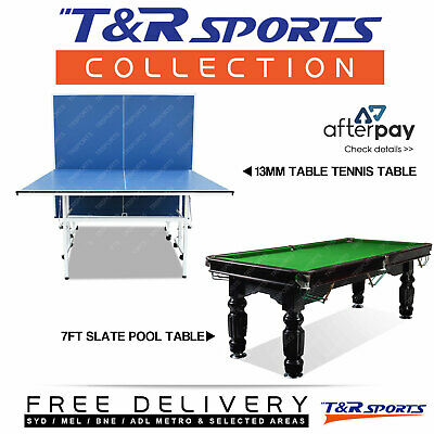 Game Room Package 7Ft Slate Pool Table + 13Mm Table Tennis Free Metro Post*