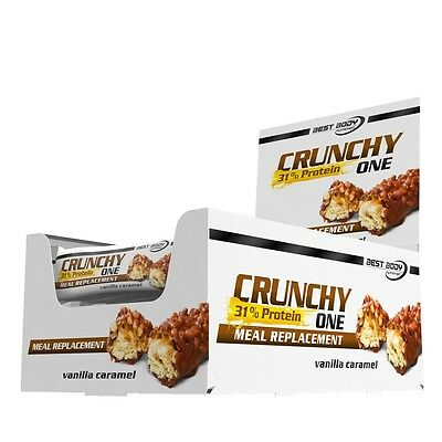 Best Body Nutrition Crunchy One 2 Boxes with each 20 x 60 g Bar (22,87€/1kg)
