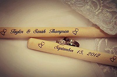 Personalized Engraved Wooden Drumsticks Christmas Birthday Anniversary Gift