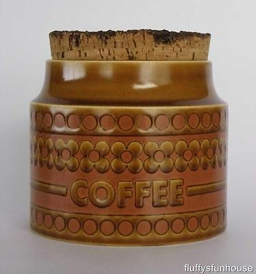 HORNSEA ENGLAND SAFFRON COFFEE CANISTER ca1972 MINT CONDITION