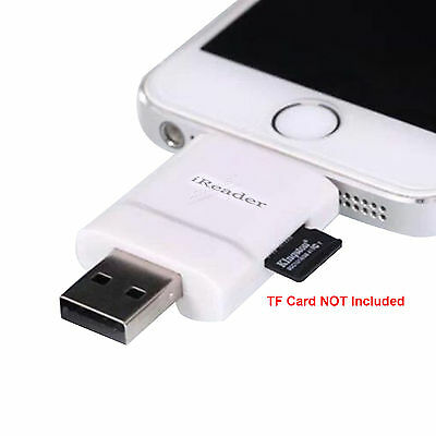 USB to Stick Micro-SD TF OTG Memory Card Reader Adapter For iPhone 6 6s Plus /7