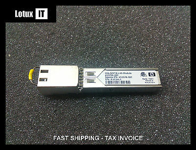 Genuine HP 1G SFP RJ-45 T Transceiver 1Gb 1GbE 1000 Base-T 453156-001 453578-001