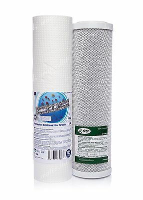 "Set Of 1 Micron Sediment Filter 10""and Carbon Block•reverse Osmosis•replacement•"