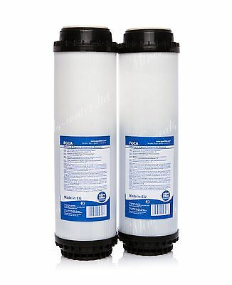 "2 x ACTIVATED CARBON FILTER 10""•WATER FILTER•REVERSE OSMOSIS SYSTEM•REPLACEMENT•"
