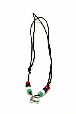 Palestine  Country Flag Small Metal Necklace Choker .. New