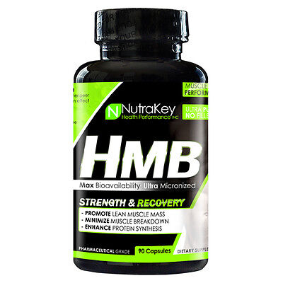 Nutrakey HMB Muscle Repair for Strength and Recovery Supplement  90 Capsules