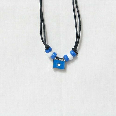 Somalia  Country Flag Small Metal Necklace Choker .. New