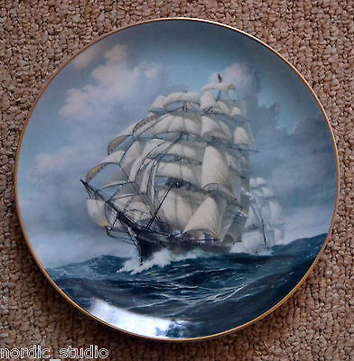 The Great Clipper Ships Collectors Plate by Leonard Pearce – ARIEL, Franklin