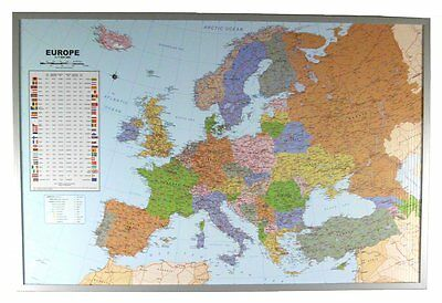 Political Map of europe as Pin board on Cork #199062