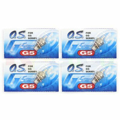 4PCS OS G5 GLOW GASOLINE PLUG GGT10 GGT15 GG SERIES # OS71655001 O.S. Engines