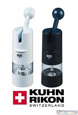 NEW KUHN RIKON RATCHET GRINDER Spice Salt Pepper Peppercorn Mill BLACK OR WHITE