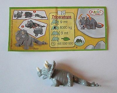 Kinder Nature Componibile Un007 Triceratops Con Cartina