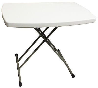 ADJUSTABLE FOLDING HEAVY DUTY PLASTIC CAMPING TABLE desk caravan bbq laptop tray