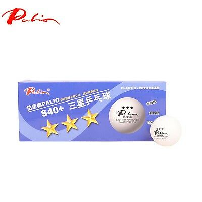 Palio 3 Star Table Tennis Balls Seamless 40mm ITTF Competition Approved UK STORE