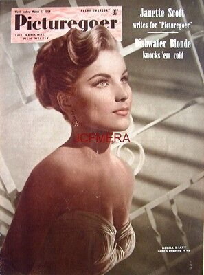 1954 DEBRA PAGET - Film Movie Photo Print - Picturegoer Cover Clipping