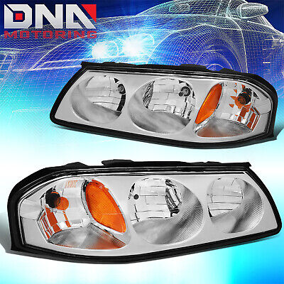 For Chevy Impala 2000-2005 Ls/ss Chrome Housing Amber Corner Signal Headlights