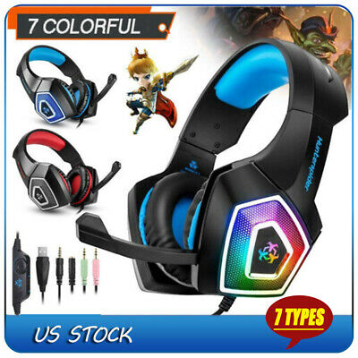 Over-ear Wireless Bluetooth LED Stereo Headphone Headset for Smartphones Tablet