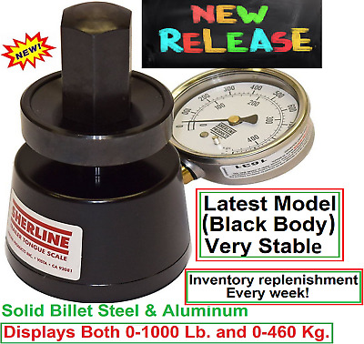 Sherline Hydraulic LM1000 Trailer Tongue Weight Scale 0-1000LB  and 0-460 kg