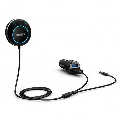 New iClever Himbox HB01 Bluetooth 4.0 Hands-Free Car Kit with 3.5 mm Aux In