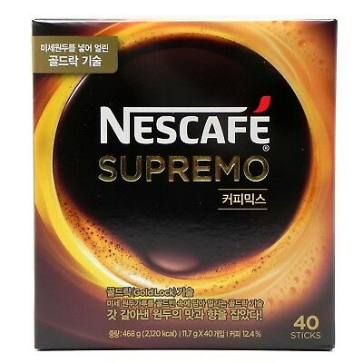 Korean Nescafe supremo Instant Coffee Mix 40 Sticks / Gold Lock Technology