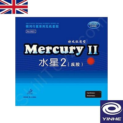 2 x Yinhe Mercury II Table Tennis Rubbers ITTF approved Pips-in 2.2mm  UK SELLER
