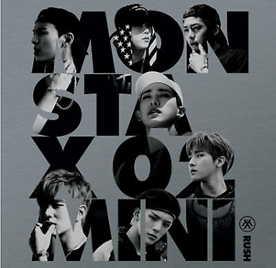 MONSTA X 2nd Mini Album [RUSH] Official Ver. CD + Photocard + Booklet Sealed