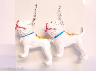 "NEW American Bulldog Bull Dogs 1.75"" Hood Hounds Figures Dangle Earrings"