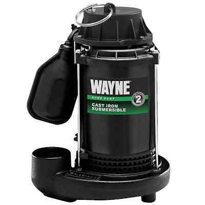 Wayne Cast Iron Sump Pump with Tether Float Switch 3800 GPH, 1/3 HP CDT33