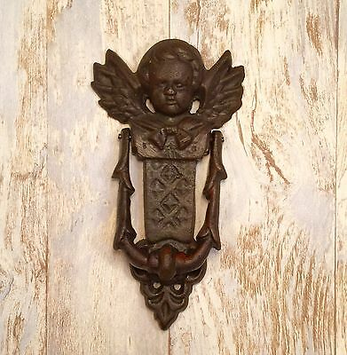 Cast Iron Angelic Cherub Vintage Door Knocker