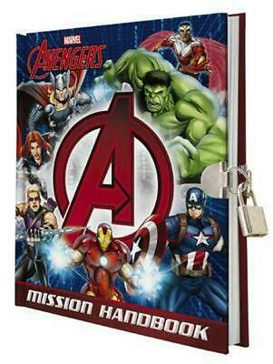 Avengers Mission Handbook (with Lock and Key) Hardcover Book Free Shipping!