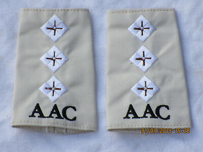 Shoulder Marks: Captain, Army Air Corps, Khaki, AAC, Army Aviation