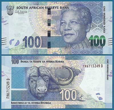 South Africa 100 Rand P 136 ND (2012) UNC Low Shipping! Combine FREE!