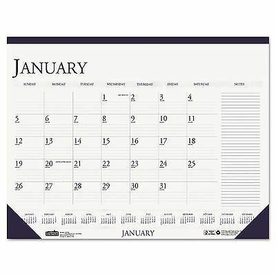 House of Doolittle - Two-Color Monthly Desk Pad Calendar w/Large Notes Section