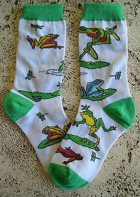 New Wild Habitat Ladies Socks Leap Frogs Frog Collectible  Finest Quality!!!